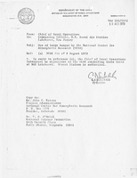 Correspondence, Chief of Naval Operations to John C. Warren