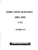 National Scientific Balloon Facility Annual Report FY 1973
