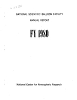 National Scientific Balloon Facility Annual Report FY 1980