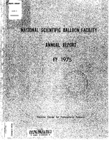 National Scientific Balloon Facility Annual Report FY 1975