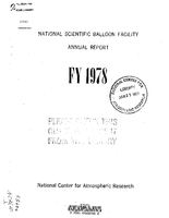 National Scientific Balloon Facility Annual Report FY 1978