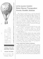 Scientific Ballooning, September 1962