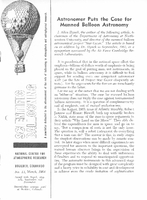 Scientific Ballooning, March 1964