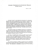 Correspondence, Walter Orr Roberts to potential participants in a discussion of the scientific program of the National Center for Atmospheric Research