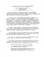 Minutes of the Board of Trustees, October 21, 1959, Ithaca, New York