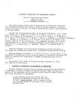 Minutes of the Board of Trustees, April 26, 1960, Chicago, Illinois