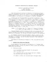 Minutes of the Board of Trustees, April 11, 1961, Seattle, Washington