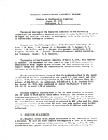 Minutes of the Executive Committee, August 20, 1959, Washington, D. C.