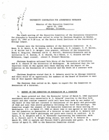 Minutes of the Executive Committee, April 25, 1960, Chicago, Illinois
