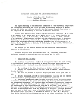 Minutes of the Executive Committee, October 10, 1960, Boulder, Colorado