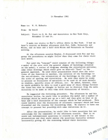 Memo from Ed Wolff to Walter Orr Roberts