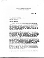 Correspondence, Alan T. Waterman, Director of the NSF, to Dr. Henry Houghton
