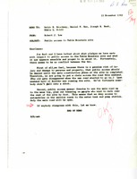 Correspondence, Robert J. Low re: public access to Table Mountain site