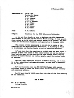 Correspondence, Walter Orr Roberts requests volunteers for a NCAR Laboratory Dedication Committee
