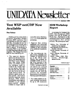 UNIDATA Newsletter Summer 1989