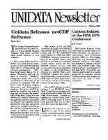 UNIDATA Newsletter Winter 1989