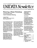 UNIDATA Newsletter Summer/Fall 1990