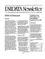 UNIDATA Newsletter Summer 1991