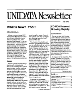 UNIDATA Newsletter Fall 1991