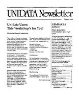 UNIDATA Newsletter Winter 1991