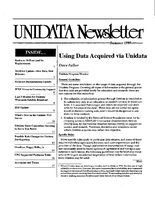 UNIDATA Newsletter Summer 1995