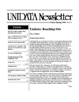 UNIDATA Newsletter Winter/Spring 1996