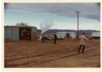 Photograph, balloon launch at Marshall Site