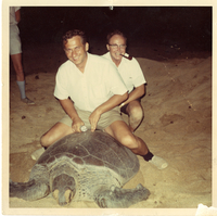 Photograph, Bob Kebara and Vincent Lally in Ascension Island
