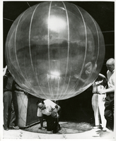 Photograph, GAMP staff and balloon