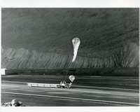 Photograph, balloon launch on Ascension Island