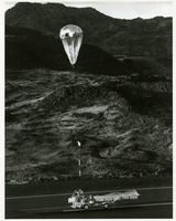 Photograph, releasing payload on Ascension Island