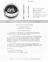 Gate Information Bulletin Number 17