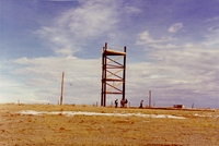 Photograph, National Hail Research Experiment tower at New Raymer