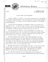 Information Release, February 19, 1976