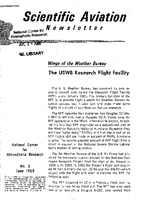 Scientific Aviation Newsletter, Number 3