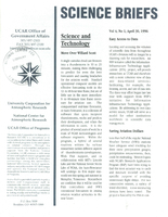Science Briefs Volume 4, Number 1