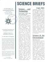 Science Briefs Fall 2001