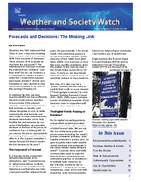 Weather and Society Watch Volume 3 Issue 1