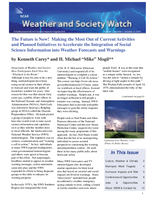 Weather and Society Watch Volume 5 Issue 1