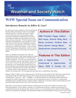 Weather and Society Watch Volume 5 Issue 2