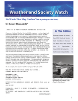 Weather and Society Watch Volume 5 Issue 3