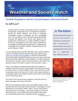 Weather and Society Watch Volume 5 Issue 4