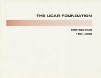 The UCAR Foundation Strategic Plan: 1994 - 2000
