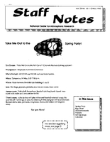 Staff Notes Volume 28 Issue 18
