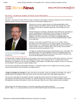 Michael Thompson named interim UCAR president