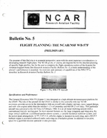 RAF Bulletin 5: Flight planning, the NCAR/NSF WB-57F