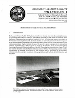 RAF Bulletin 1: Procedures to request NCAR flight support (updated 1994)