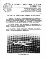 RAF Bulletin 2: The King Air, overview and summary of capabilities (1990)