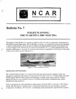 RAF Bulletin 7: Flight planning, the NCAR/NSF L-188C Electra