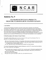 RAF Bulletin 9: Standard output data products from the NCAR Research Aviation Facility (updated 1997)